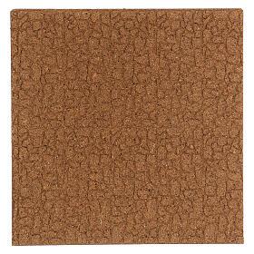 Panneau liège imitation mur pierres petites cm 100x50x1 s3