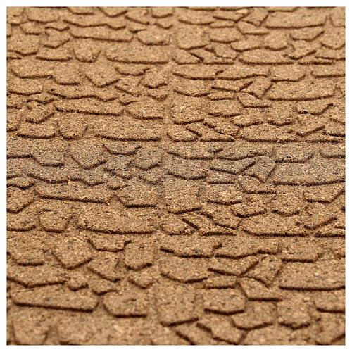 Pannello sughero muro pietra piccola 100x50x1 2