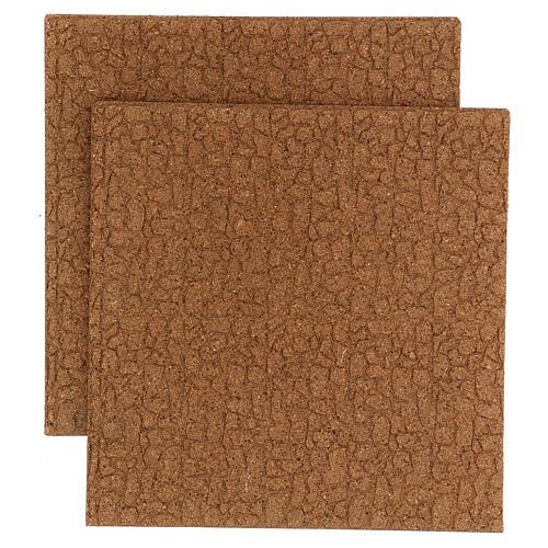 Panel korek mur kamień drobny 100x50x1 1