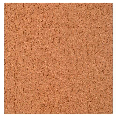 Panneau liège imitation mur pierres cm 100x50x1 1