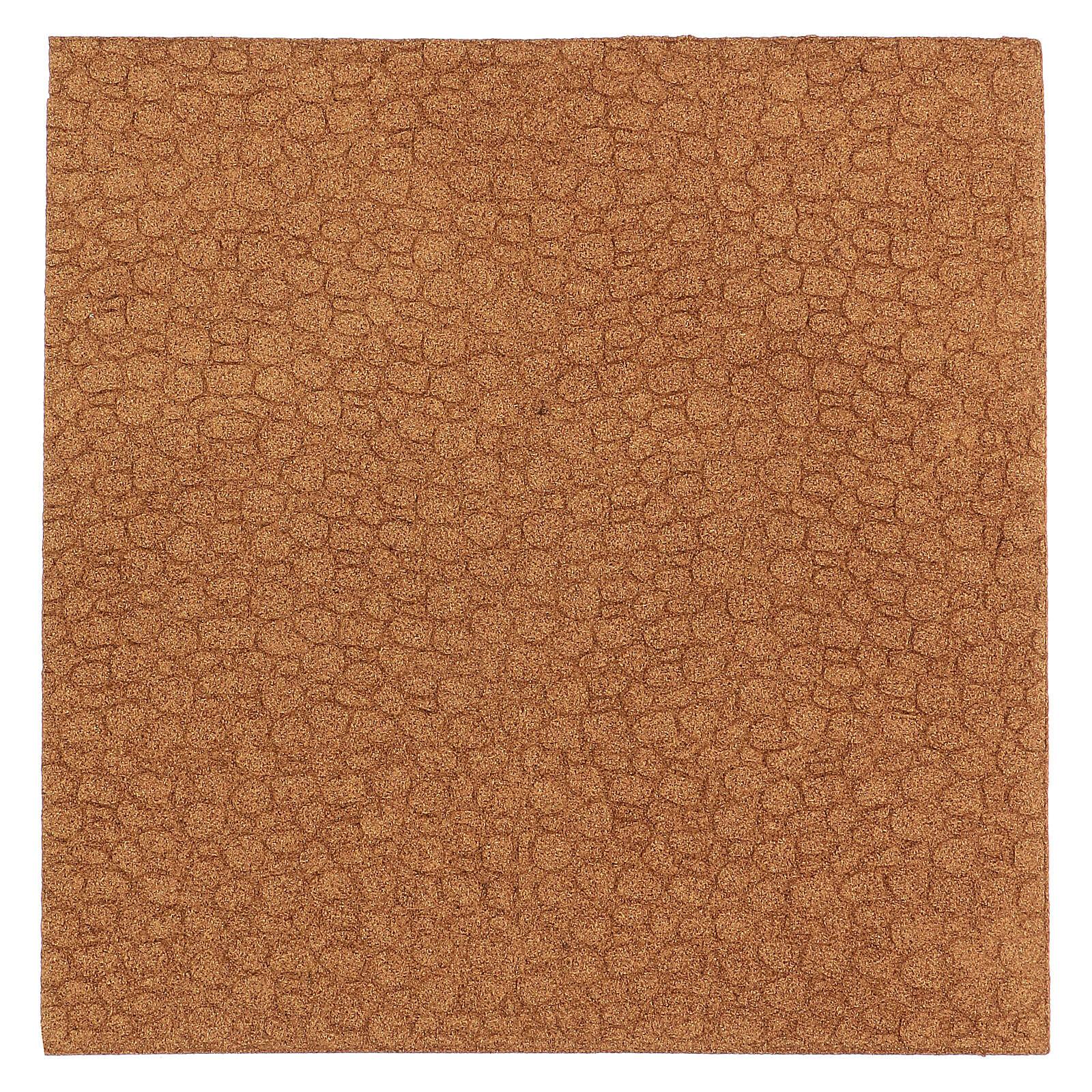 Painel cortiça parede pedra irregular 100x50x1 cm 4