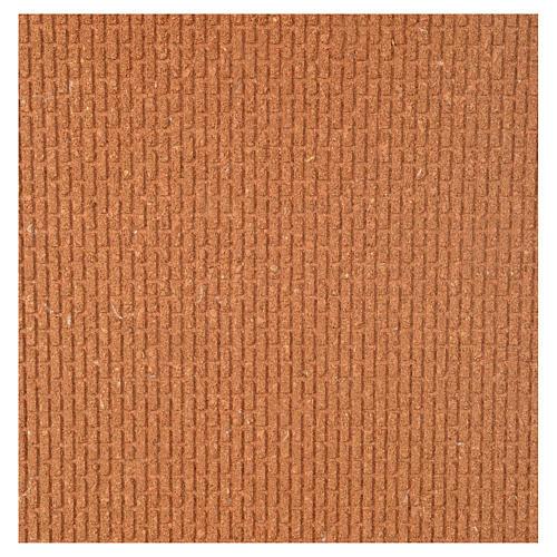 Panneau liège imitation mur briques petits cm 100x40x1 1