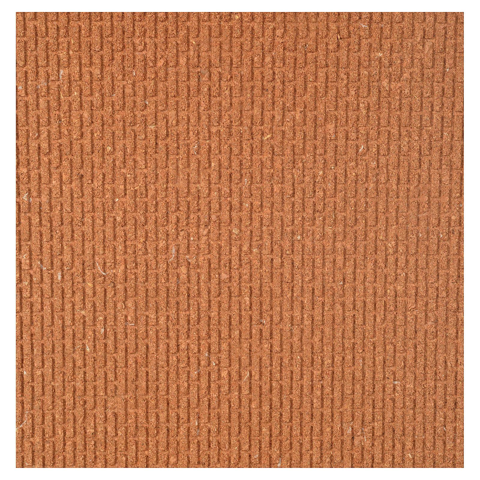 Pannello sughero muro mattoni piccoli 100x40x1 4