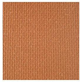 Paisagens, Cenários de Papel e Painéis para Presépio: Painel cortiça parede tijolos pequenos 100x40x1 cm