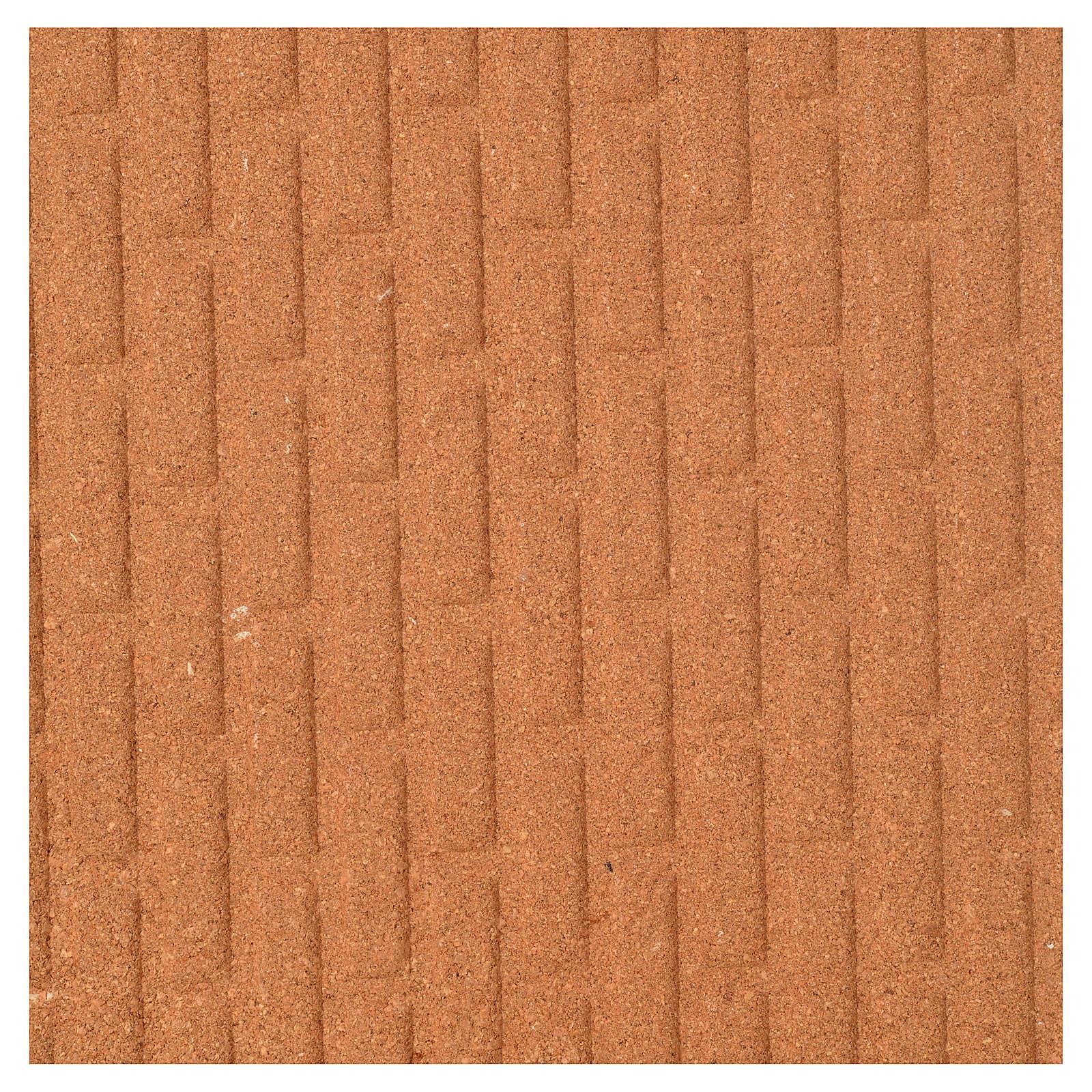 Pannello sughero muro mattoni grandi 100x40x1 4