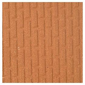 Pannello sughero muro mattoni grandi 100x40x1 s1