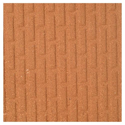 Pannello sughero muro mattoni grandi 100x40x1 1