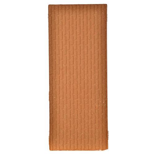 Pannello sughero muro mattoni grandi 100x40x1 2
