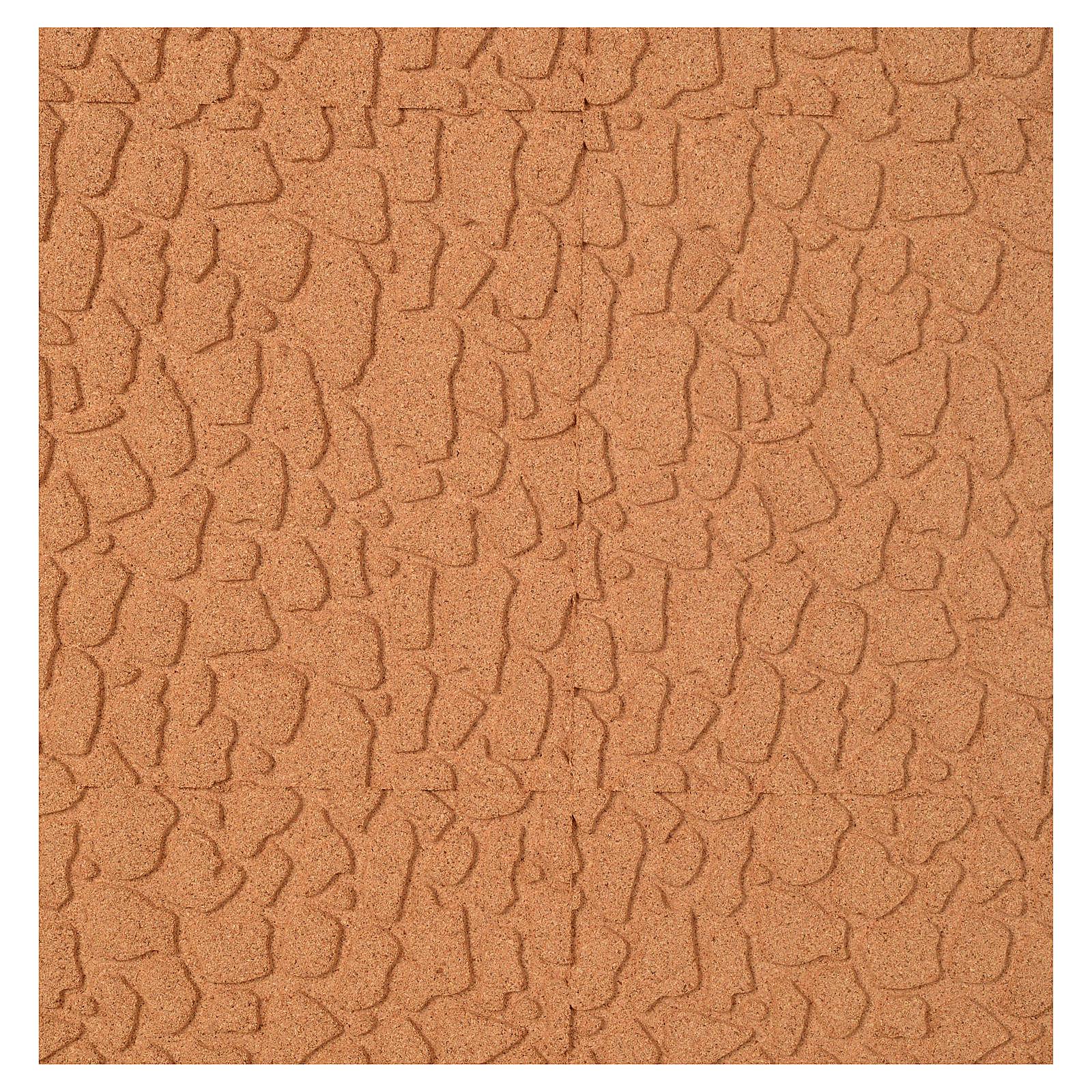 Panneau liège imitation mur en pierre cm 100x50x1 4
