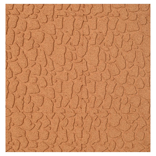 Panneau liège imitation mur en pierre cm 100x50x1 1
