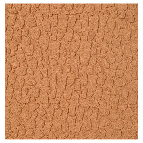 Pannello sughero muro pietra cm. 100x50x1 1