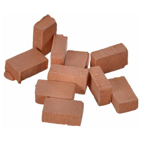 Briques en miniature 10x7 lot 100 pcs résine 2