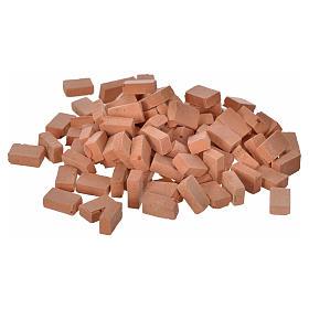 Accessori presepe per casa: Mattoni resina mm 10x7 set 100 pz.