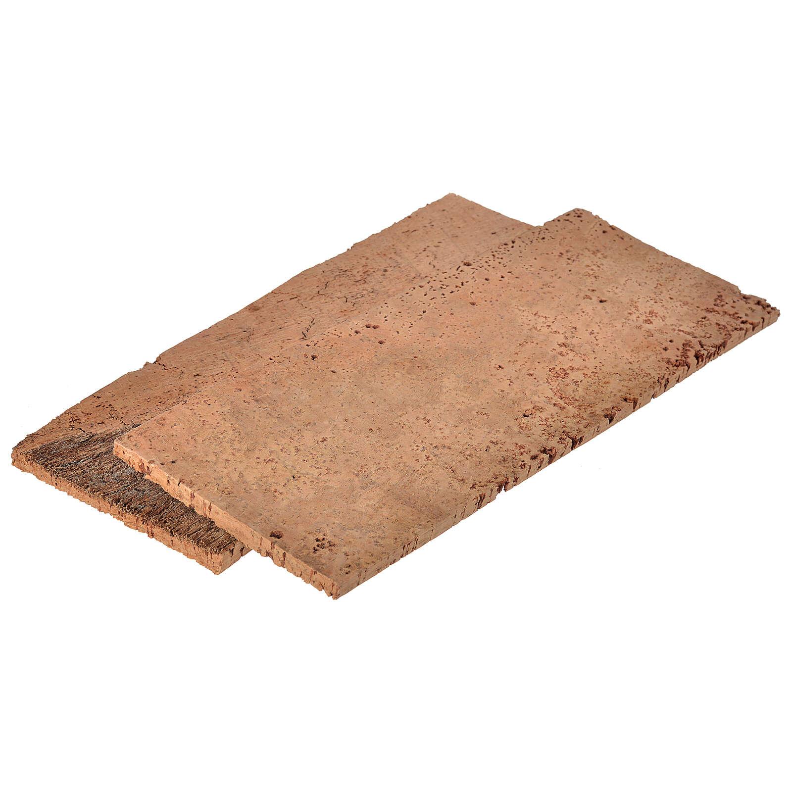 Tavoletta sughero naturale 2 pz cm 27x9x0,5 4