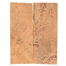 Paisagens, Cenários de Papel e Painéis para Presépio: Tábua cortiça natural 2 peças 27x9x0,5 cm