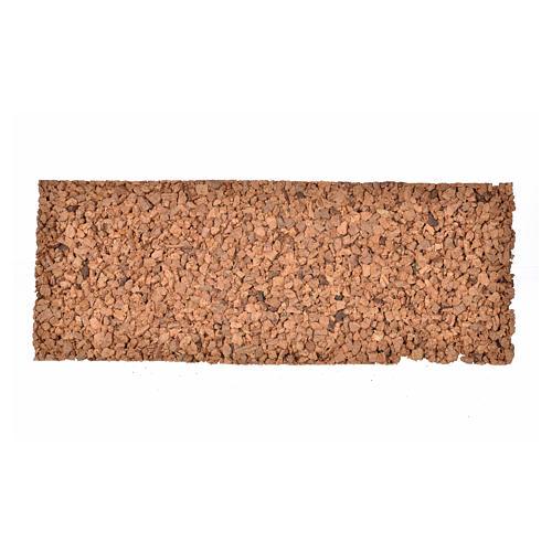 Pannello in sughero roccioso 33x12,5x1 1