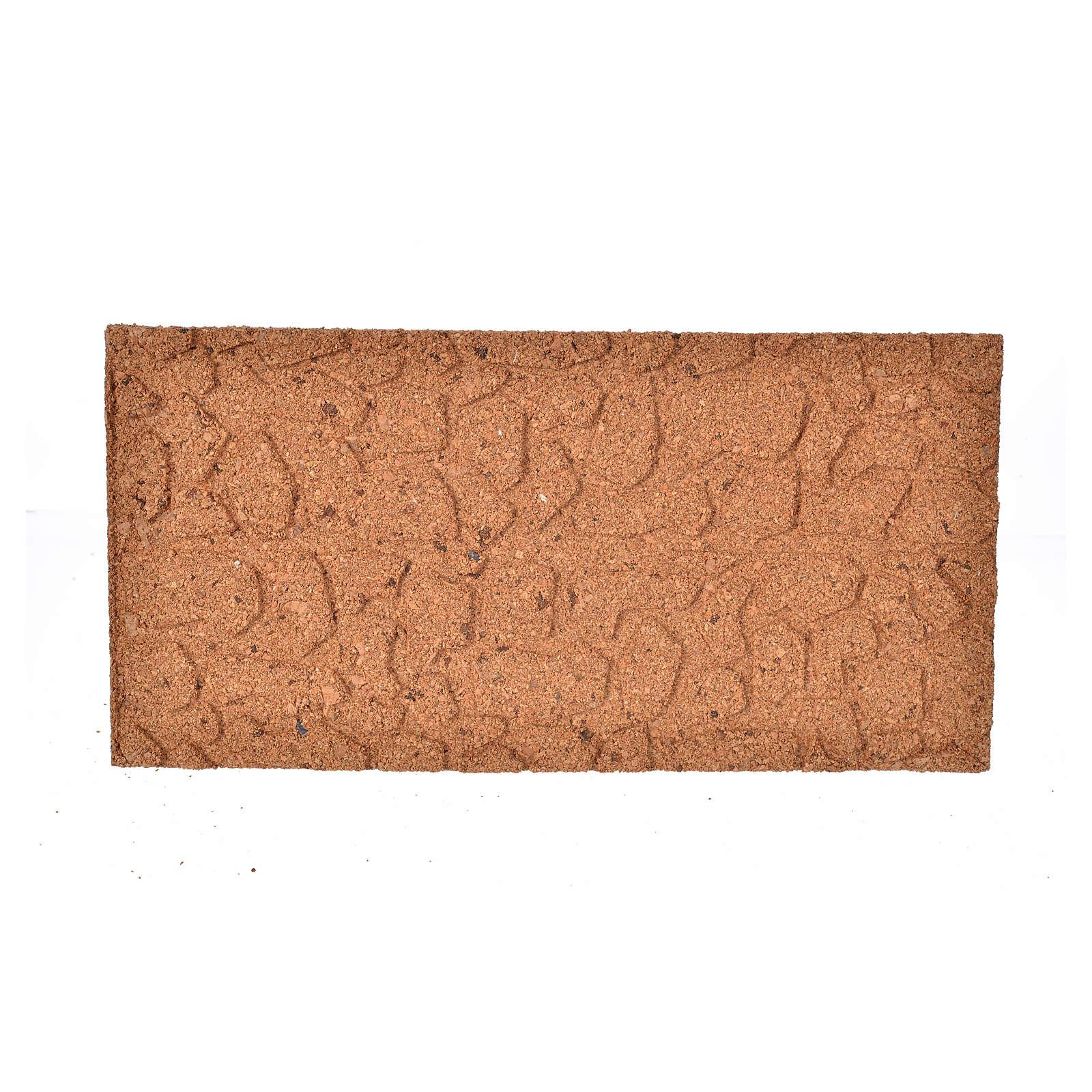 Pannello di sughero muro pietra sfalzata cm 25x12x1 4