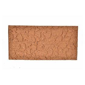 Pannello di sughero muro pietra sfalzata cm 25x12x1 s1