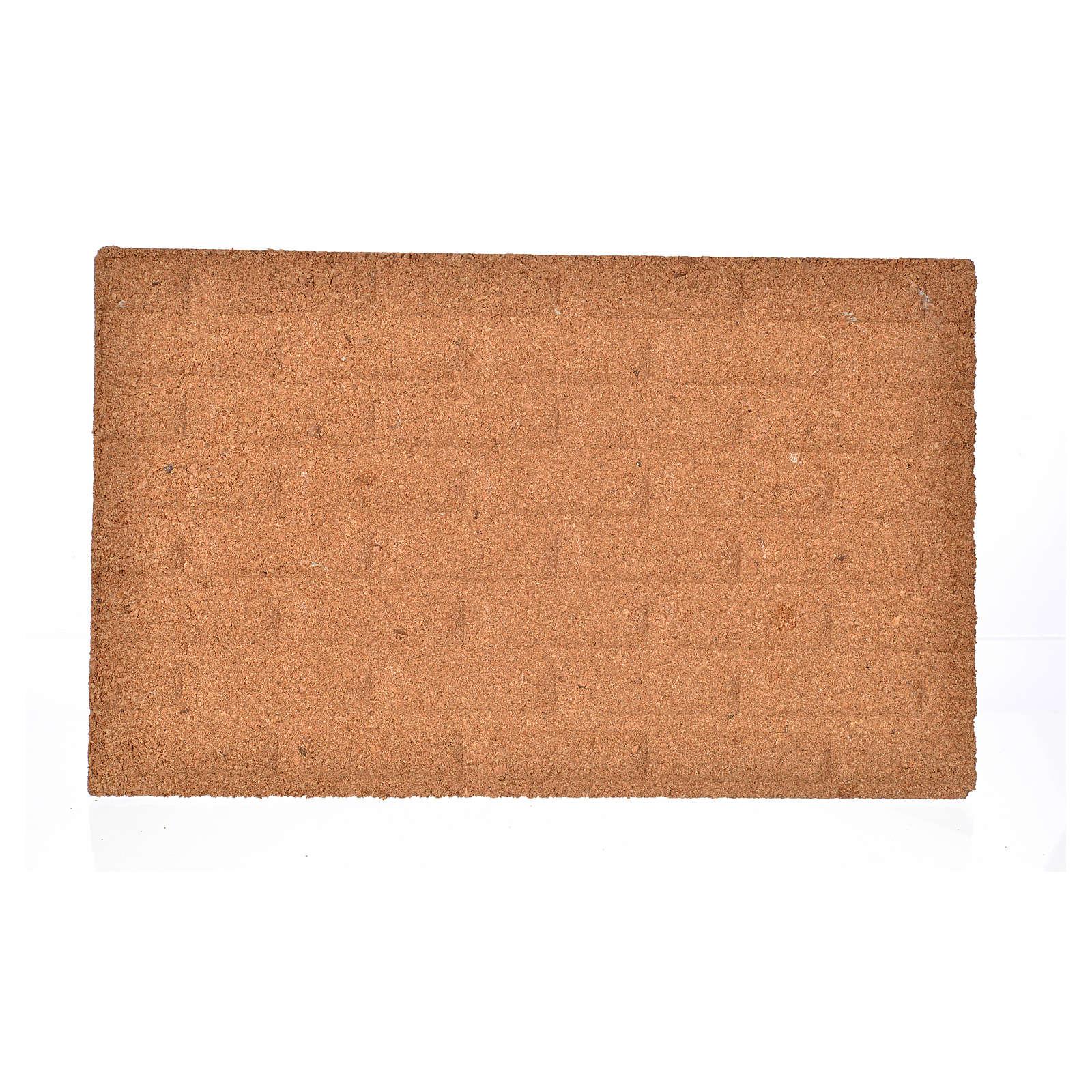 Plancha corcho muro ladrillos grandes cm. 33x20x1 4