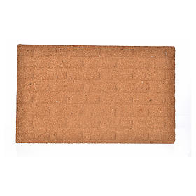 Plancha corcho muro ladrillos grandes cm. 33x20x1 s1