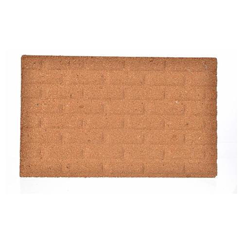 Plancha corcho muro ladrillos grandes cm. 33x20x1 1