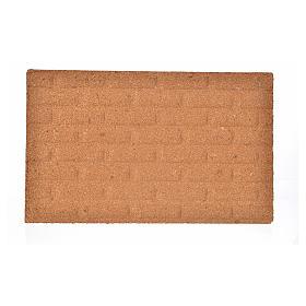 Pannello di sughero muro mattoni grandi 33x20x1 s1