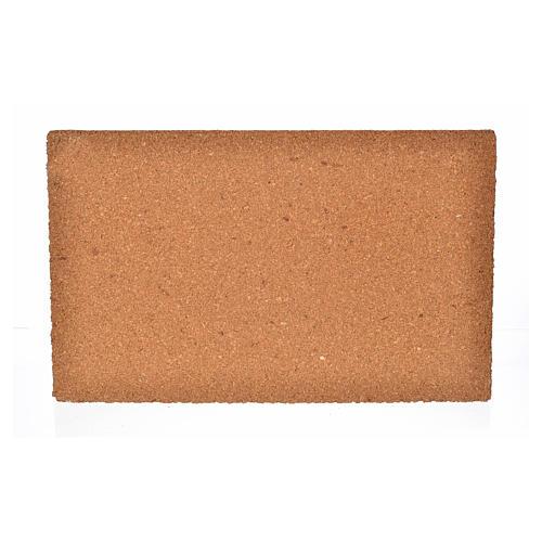 Pannello di sughero muro mattoni grandi 33x20x1 2