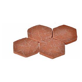 Nativity accessory, hexagonal tiles in resin, 25mm, 16pcs s2