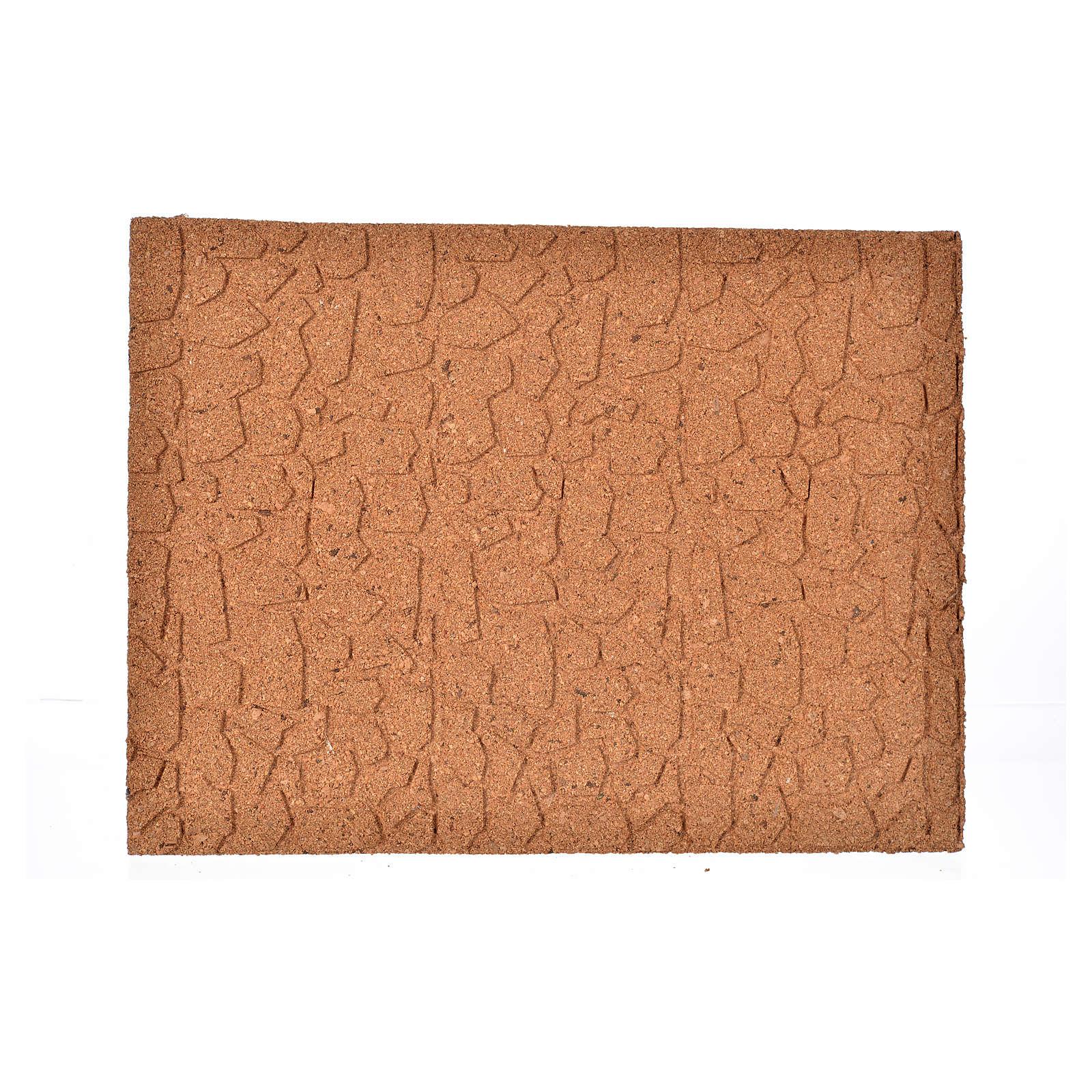 Plancha corcho piedras irregulares cm. 33x24.5x1 4