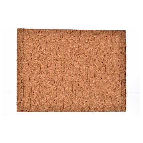 Plancha corcho piedras irregulares cm. 33x24.5x1 1