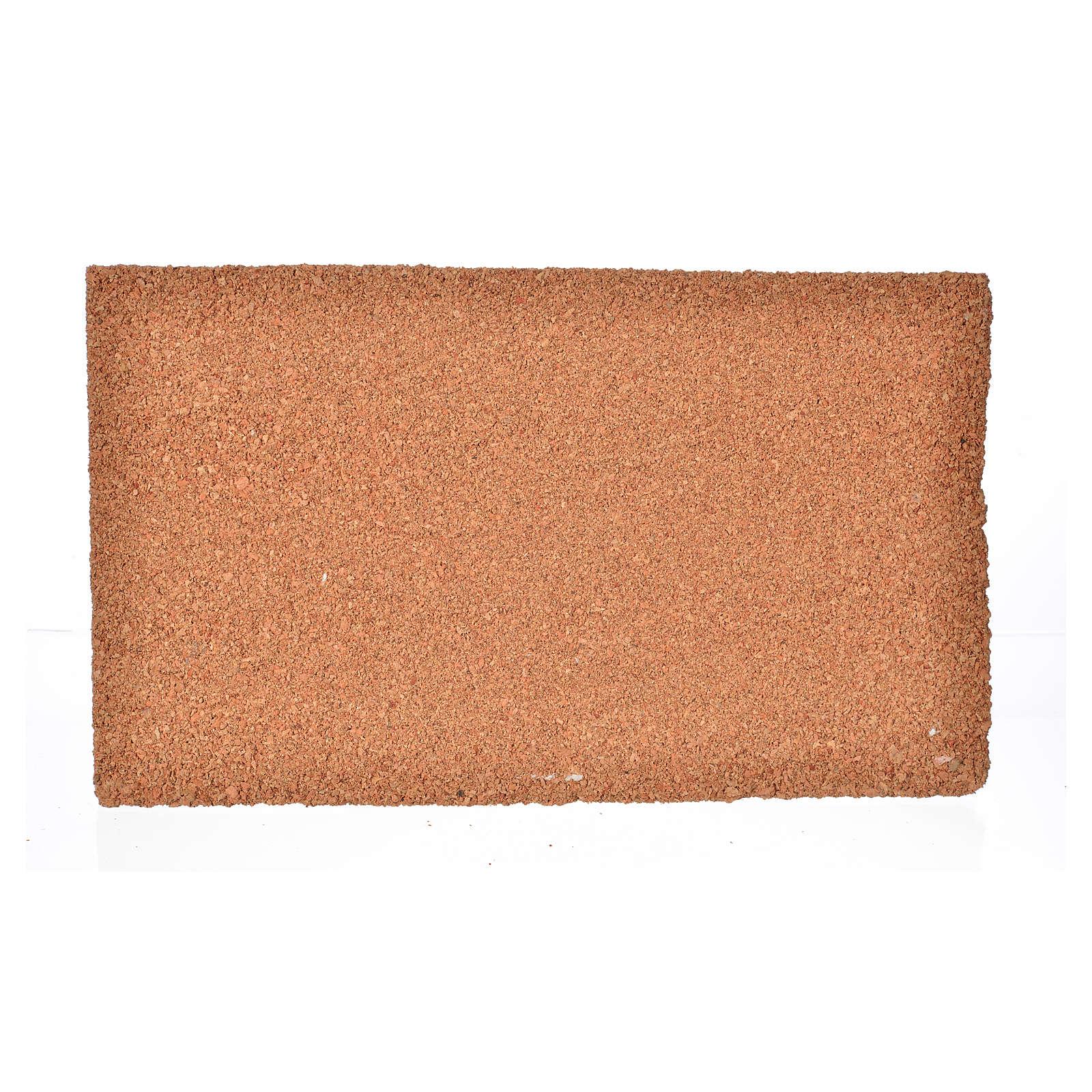 Plancha corcho piedra/ladrillo cm. 33x20x1.5 4