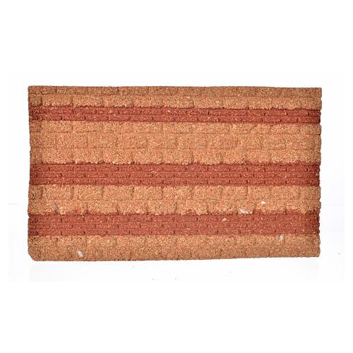 Plancha corcho piedra/ladrillo cm. 33x20x1.5 1