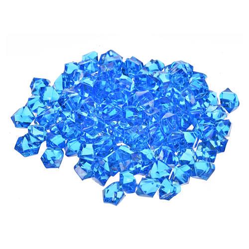 Gravier bleu pour pavage crèche noël 150g 1