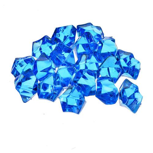 Gravier bleu pour pavage crèche noël 150g 2