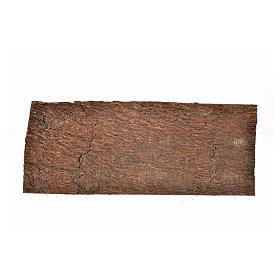 Nativity scene backdrop, cork panel bark effect 25x9x0,7cm s1