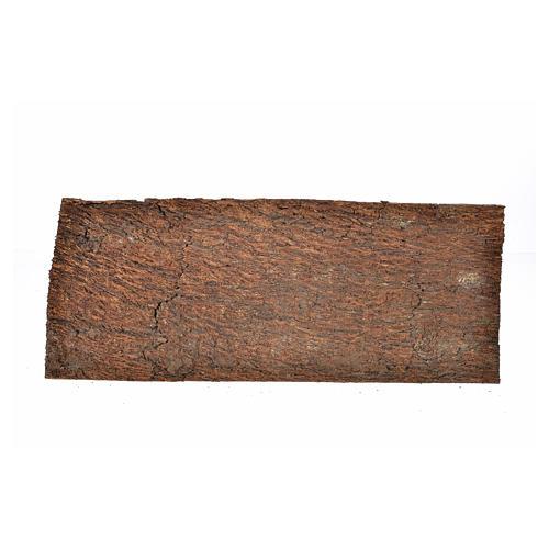 Nativity scene backdrop, cork panel bark effect 25x9x0,7cm 1