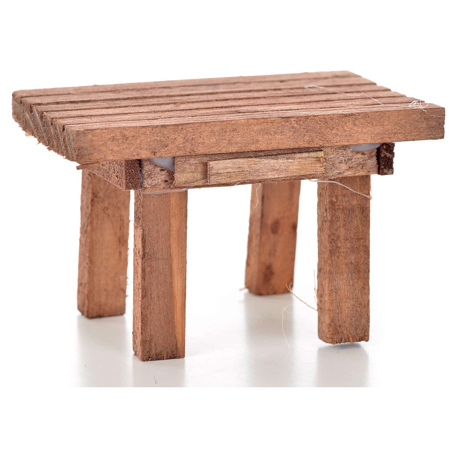 Tisch aus Holz, 8,5x6x5,5cm 4