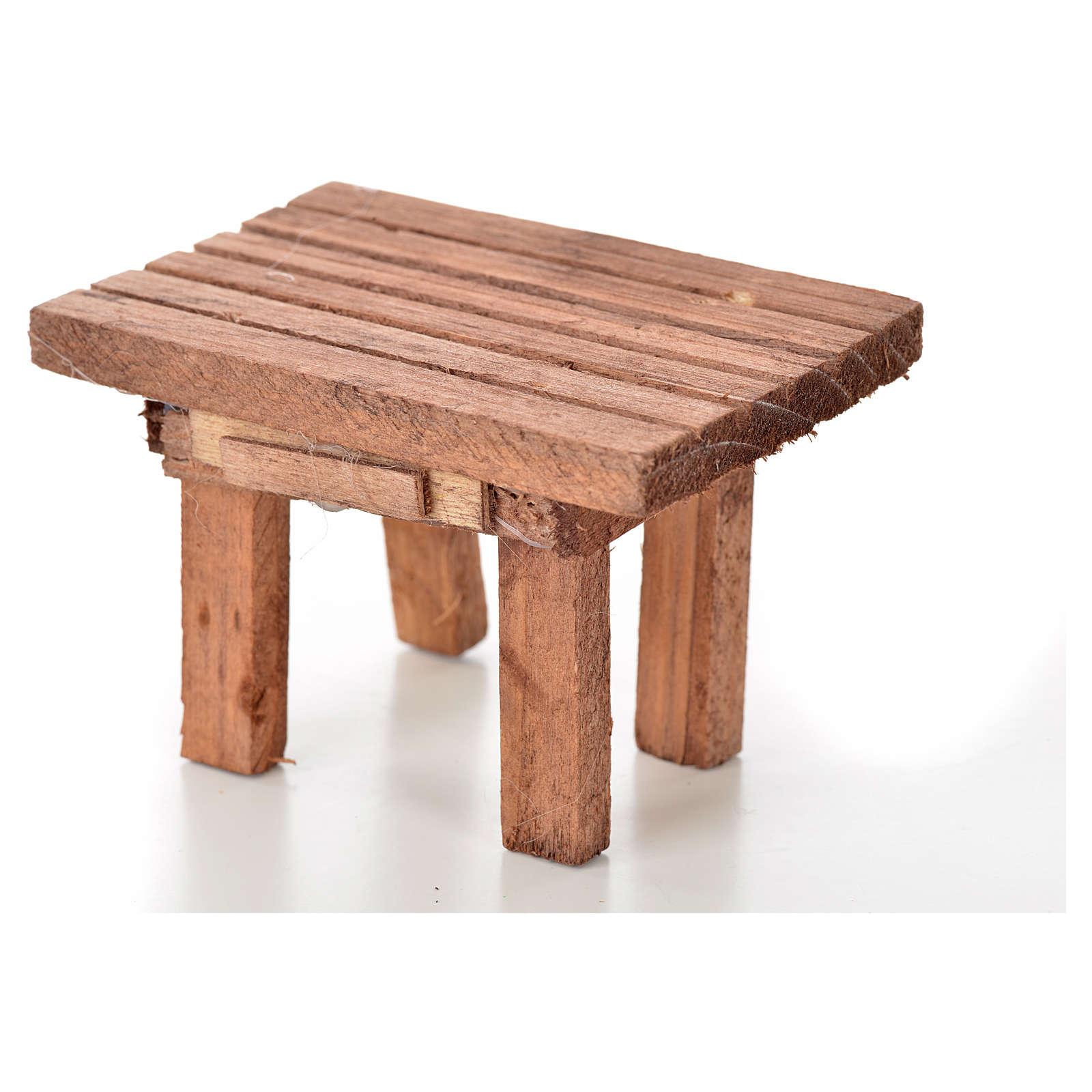 Table en bois, miniature crèche 8,5x6x5,5 cm 4