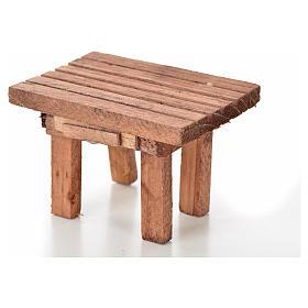 Table en bois, miniature crèche 8,5x6x5,5 cm s2