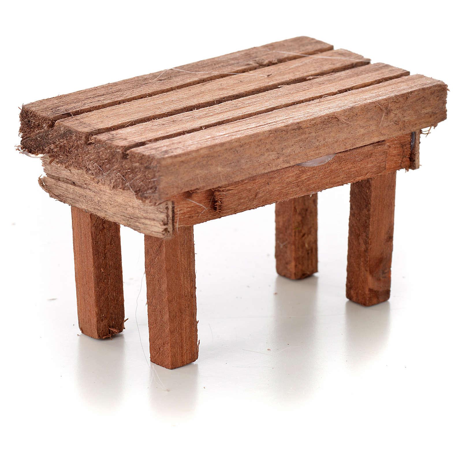 Nativity accessory, wooden table 6x3.5x3.5cm 4