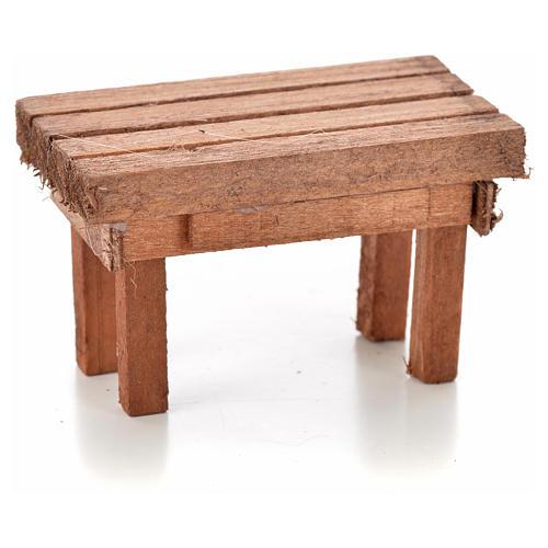 Nativity accessory, wooden table 6x3.5x3.5cm 1