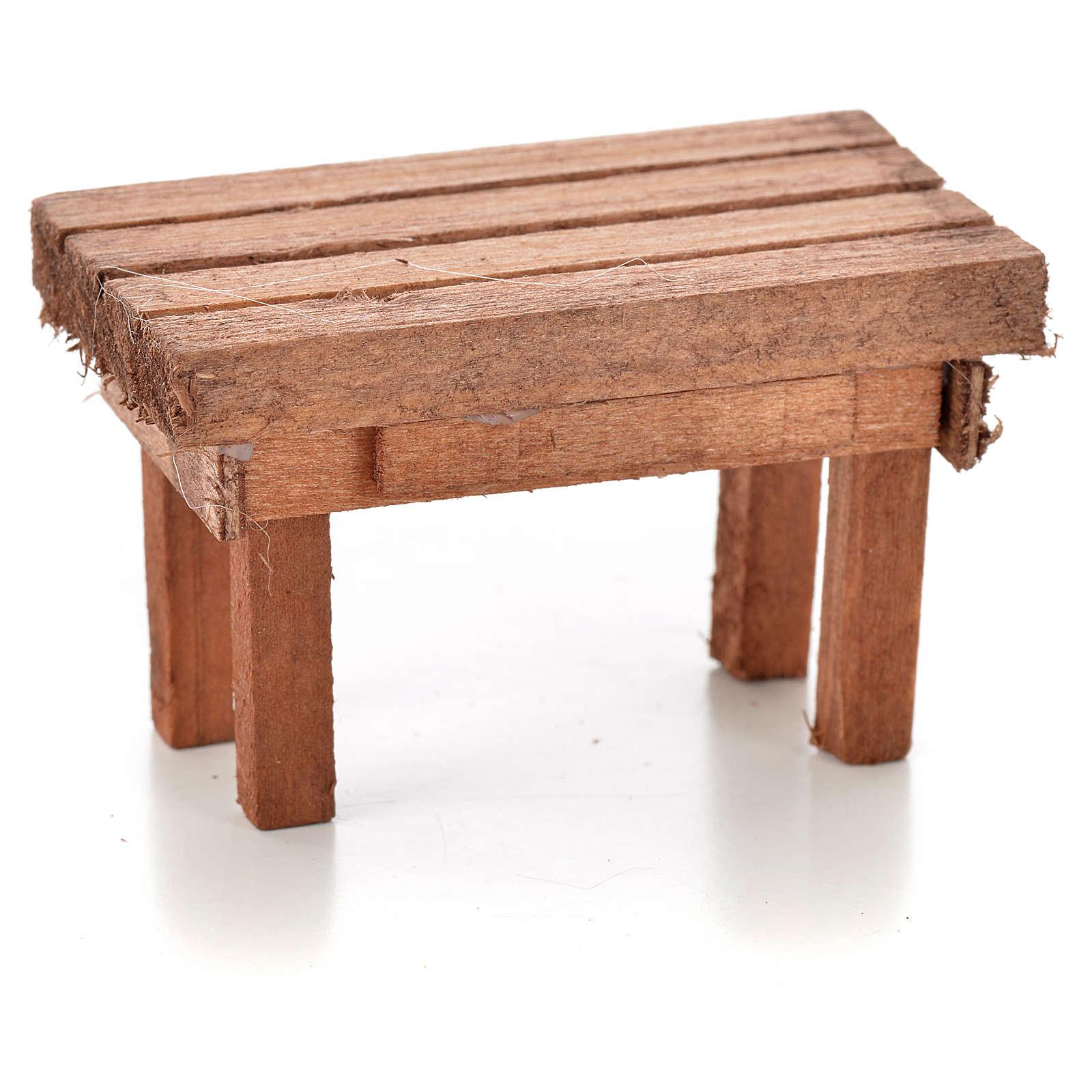 Table en bois miniature crèche 6x3,5x3,5 cm 4