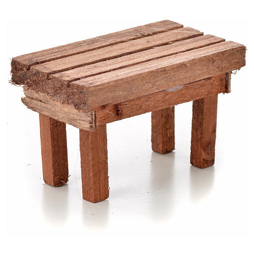 Nativity accessory, wooden table 6x3.5x3.5cm 2