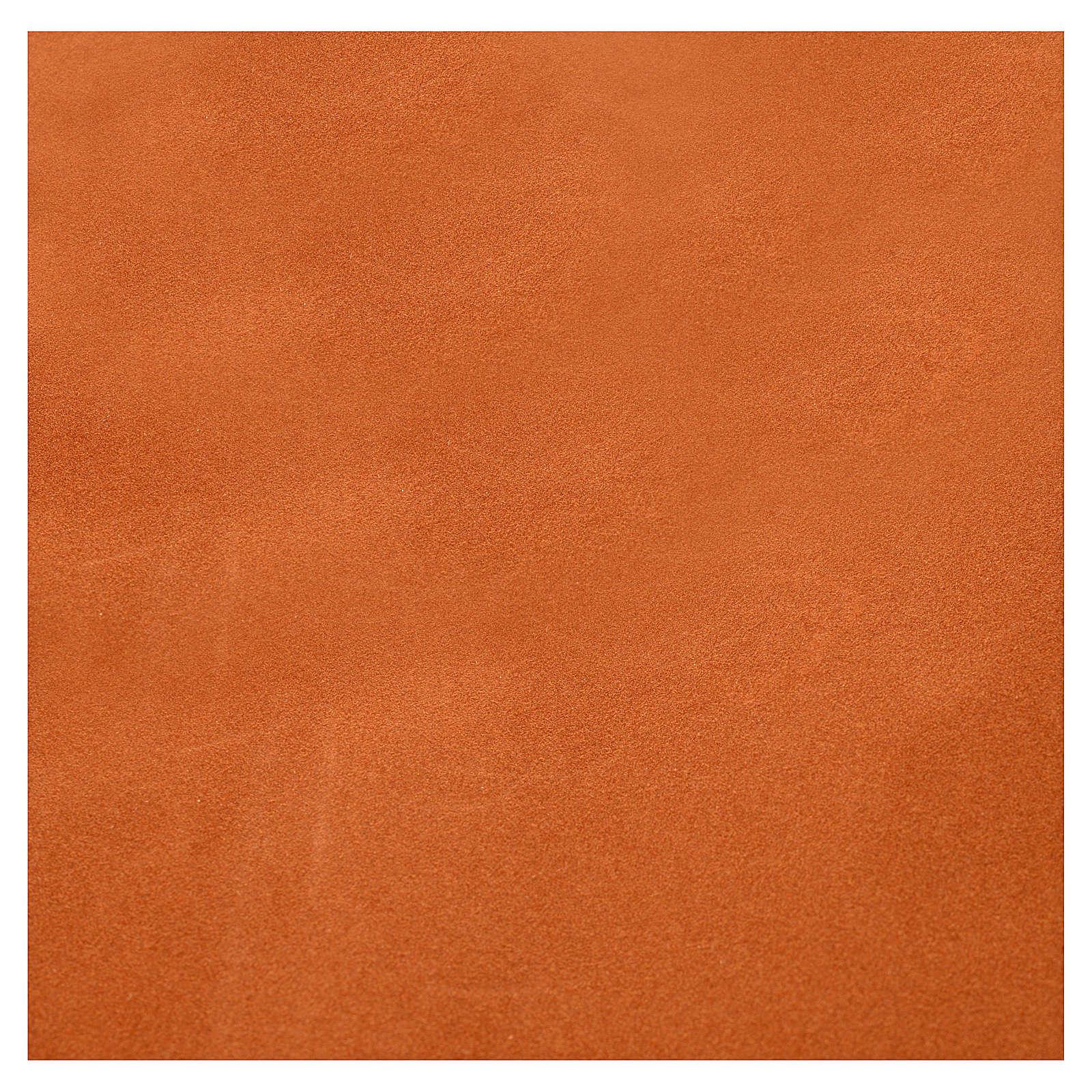 Rollo papel marrón terciopelo cm. 70x50 4