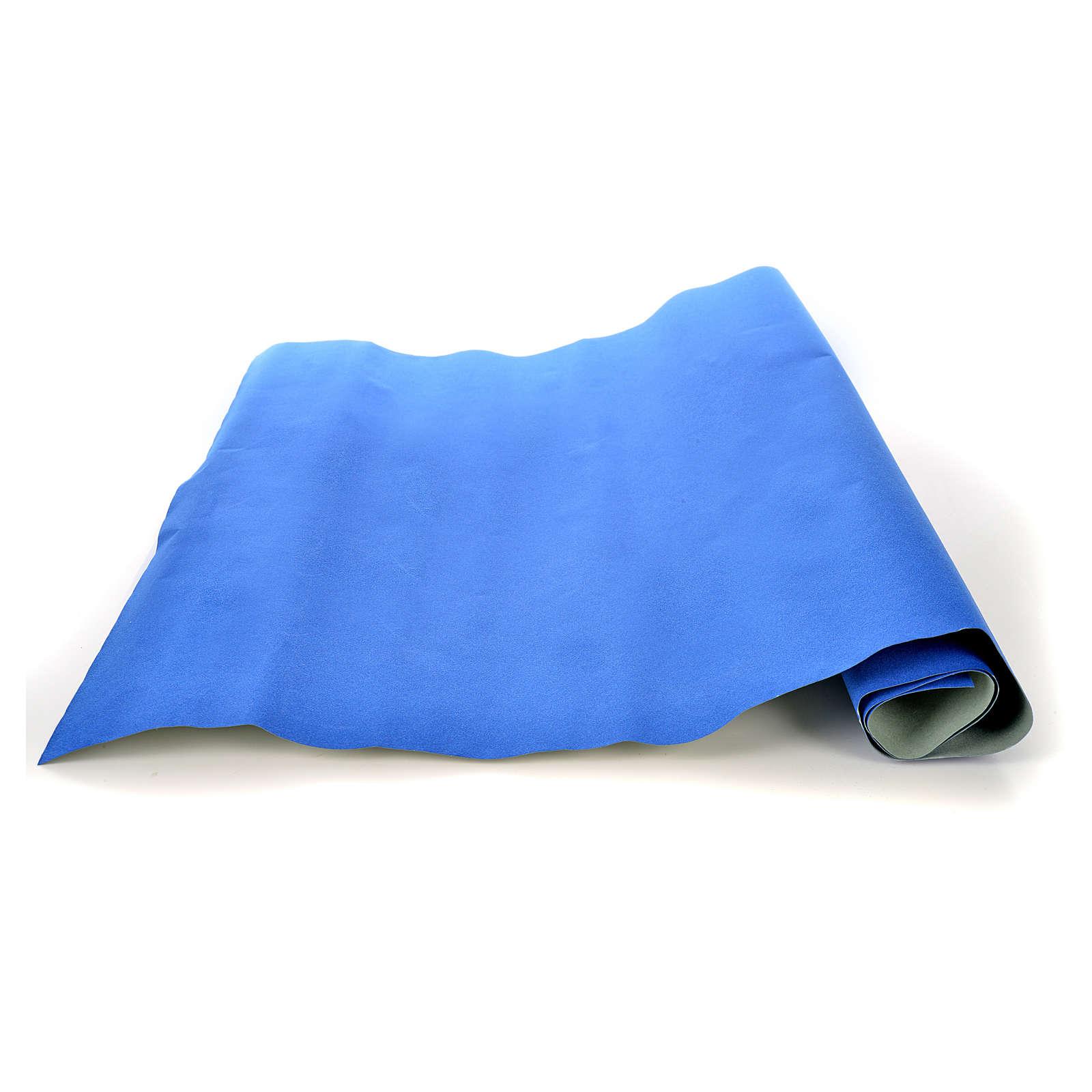 Rollo papel azul terciopelo cm. 70x50 4