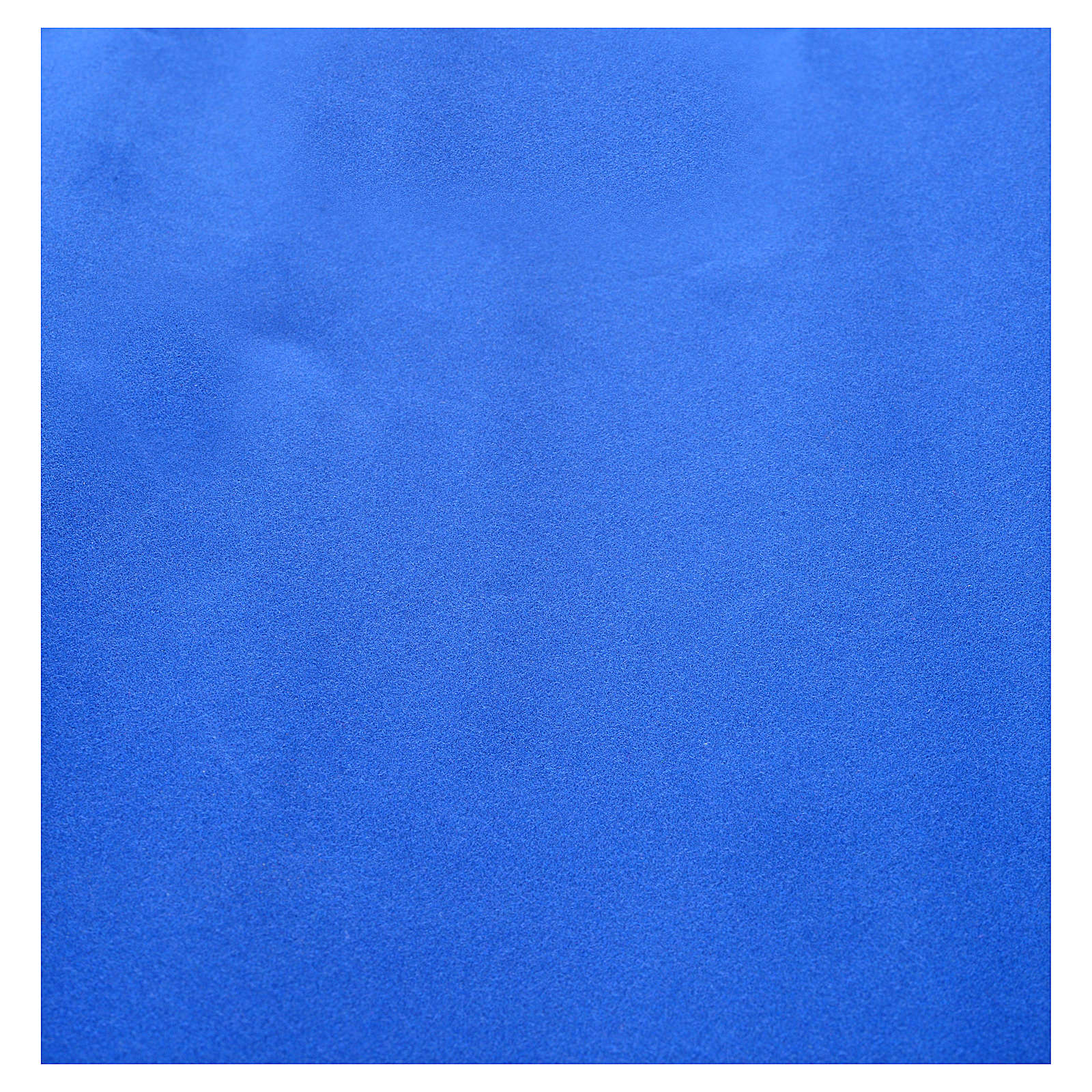 Nativity scene backdrop, roll of velvet blue paper 70 x 50cm 4