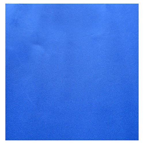 Nativity scene backdrop, roll of velvet blue paper 70 x 50cm 2