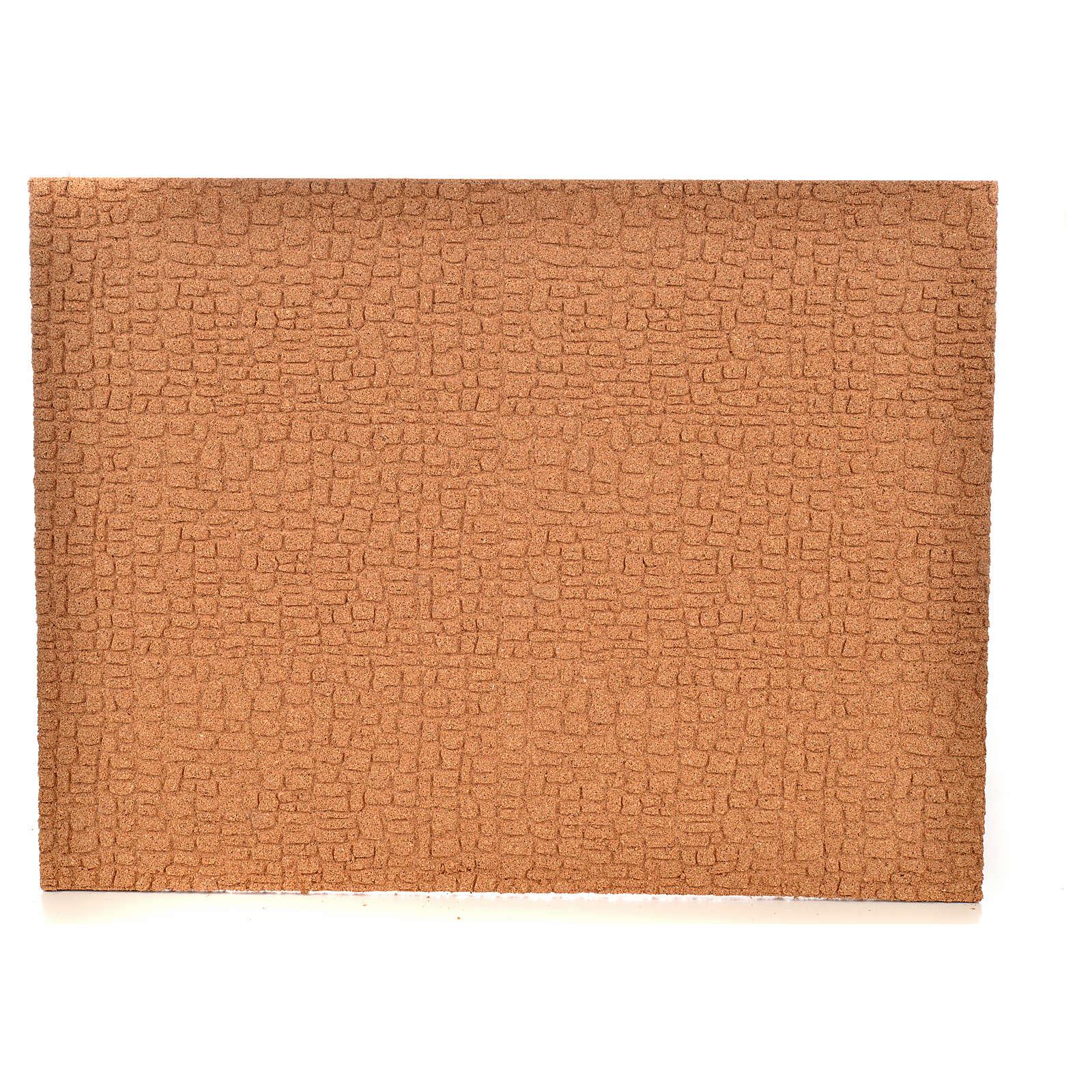 Feuille de liège mur/pavés 33x24,5x1 cm 4