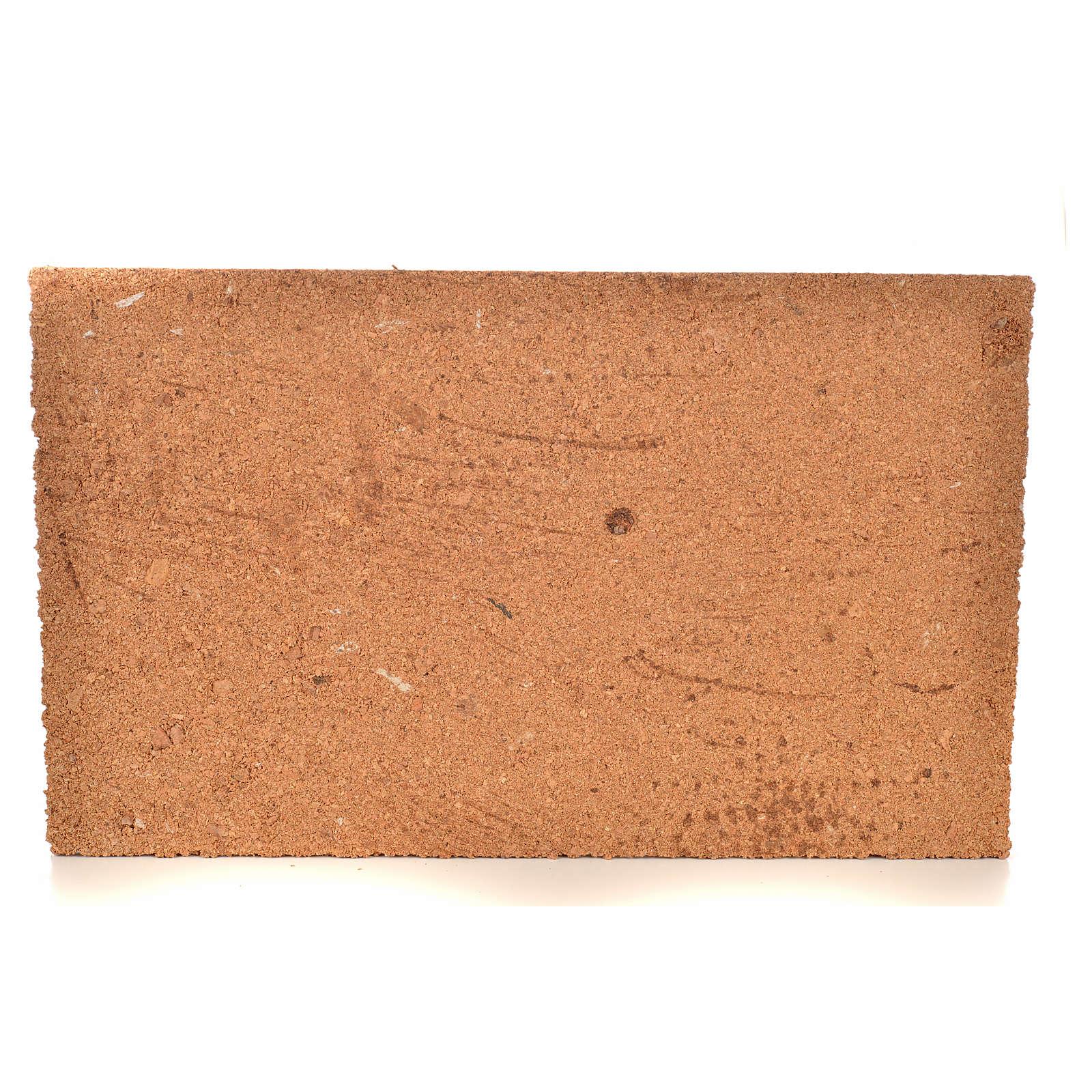 Plancha corcho efecto muro/ladrillos cm. 33x20x1 4