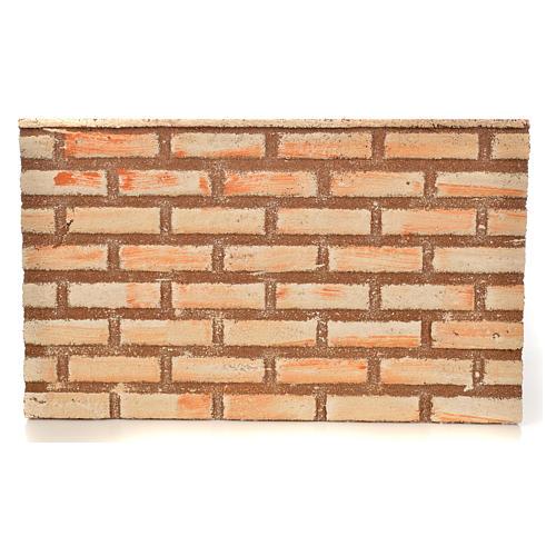 Plancha corcho efecto muro/ladrillos cm. 33x20x1 1